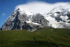 The Eiger and Mönch from near Kleine Scheidegg