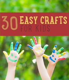 30-Easy-Kids-Crafts, Craft-Projects-For-Kids
