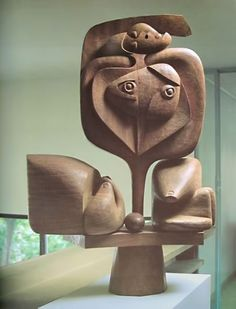 Untitled-No.16, design created by Le Corbusier, 1957, carved by Joseph Savina