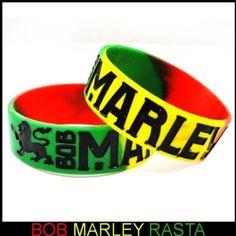 Amazon.com: Bob Marley Rasta Color Designer Rubber Saying Bracelet (Rasta): Clothing