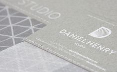 Foil blocking for Daniel Henry  Printed by dot-studio.org