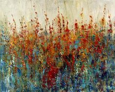 Prettify your wall decor with this Home Decorators Collection Wild Flower Patch by Timothy O'Toole Gallery Wrapped Canvas Wall Art. City Painting, Oil Painting Abstract, Acrylic Painting Flowers, Canvas Wall Art, Canvas Prints, Abstract City, Circle Art, City Art, Art Oil