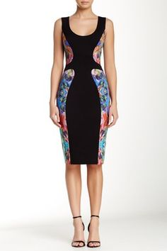 Annabelle Print Colorblock Sheath Dress