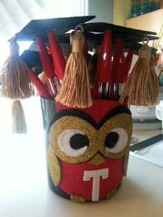 Party favors for Temple U graduation favors Graduation Party Favors, Grad Parties, Graduation Ideas, Trunk Party, Open House, Temple, Owl, University, Arts And Crafts