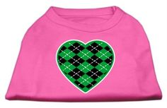 Mirage cat Products Argyle Heart Green Screen Print Shirt Bright Pink XXL (18) * Startling review available here  (This is an amazon affiliate link. I may earn commission from it)