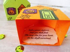 stamping and stitching: Halloween Treasure Hunt