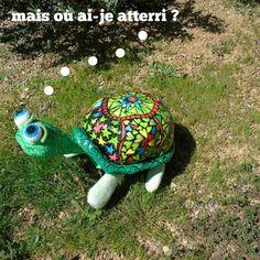tortue en papier maché
