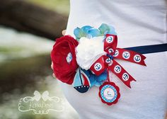 Nautical Baby Bump Band  It's a Boy  Adjustable by KenaBows How sweet is this!? #PampersPinParty