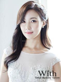 With Beauty salon in Korea, Korean style wedding make-up, Korean wedding…