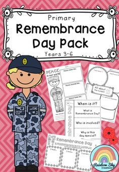 Remembrance Day Pack - Australia for Years 3 - 6.  A set of literacy, numeracy and creative thinking tasks that can be used as a sequenced series of lessons or as individual tasks to teach students about this yearly event.  ~ Rainbow Sky Creations ~