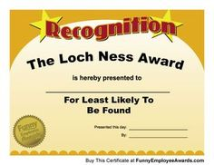 Image result for funny office certificates | Award templates ...