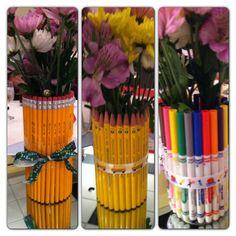 School themed floral arrangements