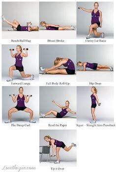 Full Body Exercise Plan fitness motivation exercise diy exercise healthy living home