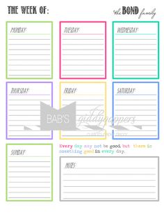 Printable Daily Planner Perpetual Calendar To Keep Track Of