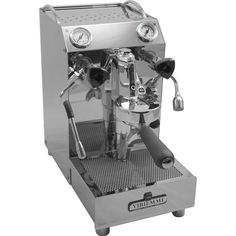 Vibiemme Domobar Junior Espresso Machine Features: - Mirror-polished stainless steel body panel. - Heavy duty, true Faema E61 grouphead maintains active flow of water from the grouphead to the heat ex