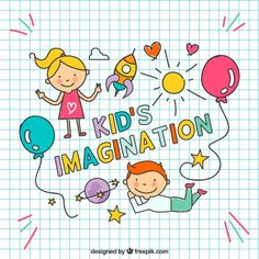More than a million free vectors, PSD, photos and free icons. Exclusive freebies and all graphic resources that you need for your projects Drawing For Kids, Art For Kids, Doodles Bonitos, Kids Graphic Design, Face Doodles, Kids Market, Kids Reading Books, Book Page Art, Illustration Art Drawing