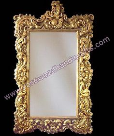 Rosewood hand carved frame