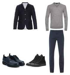 """5"" by nycmoo on Polyvore featuring Moncler Gamme Bleu, Gant Rugger, Paul Smith, Valentino, Converse, men's fashion и menswear"