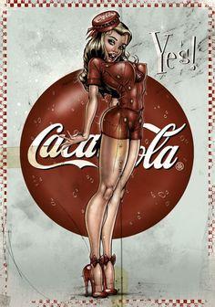 Coca Cola Pin Up Girl