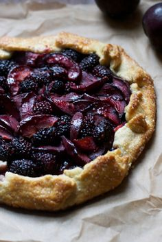 This Blackberry Plum Galette is a quicker more rustic version of a summer fruit pie. It takes no time to prepare and can be make with all your seasonal fruits! You know those cute fruit comparisons...
