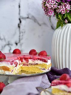 Jahodový dort s želé Vanilla Cake, Food, Essen, Meals, Yemek, Eten