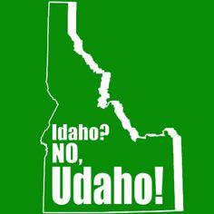 Idaho No Udaho TShirt Funny Rude Offensive Novelty by BigtimeTeez, $14.95