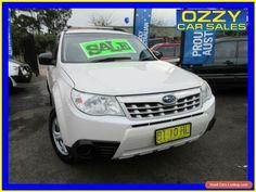 2011 Subaru Forester MY10 X White Automatic 4sp A Wagon #subaru #forester #forsale #australia
