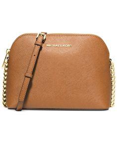 715a32c83cf5 Michael Kors Cindy Saffiano Dome Crossbody Handbags   Accessories - Macy s.  Cheap ...