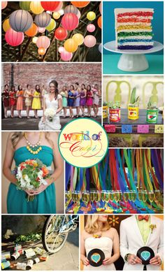 Wow! Love the use of colors in this wedding =)