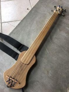 Click this image to show the full-size version. Bass Guitar Chords, Music Guitar, Cool Guitar, Guitar Diy, Acoustic Guitar, Homemade Musical Instruments, Music Instruments, Unique Guitars, Double Bass