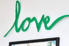"""Faça Você Mesmo: """"Love"""" envolvido em Lã Passo a Passo"""