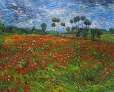 Field with Poppies 1890 by Vincent van Gogh