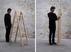 The Corner Ladder, by COMPANY & COMPANY. A brilliant super-folding ladder.