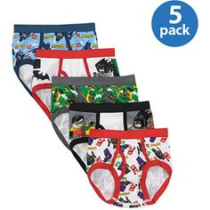 Batman Lego - Boys' 5 Piece Underwear Set