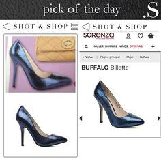 PICK OF THE DAY – Blue glitter! #HighHeels #ShotnShop #fashion #app