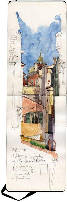 travel sketching #urban #sketch #moleskine spesso, le cose più semplici e spontanee sono le cose più belle.