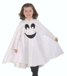 Stay Dry Ghost Costume u2026  sc 1 st  Pinterest & No Sew Ghost Poncho Costume-3 | Fun for Derek | Pinterest | Ponchos ...
