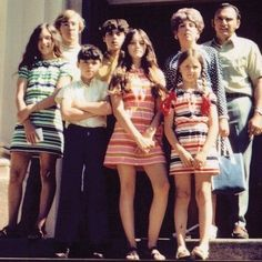 Madonna and her family, 1970