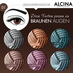 Welcher passt? Bei Alcina findest du Lidschatten für braune Augen.