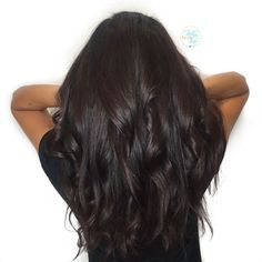 cool Rich dark chocolate brown hair color - by Kellyn at Bow & Arrow, North End Bosto...