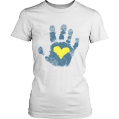 Down syndrome Awareness Hand Print
