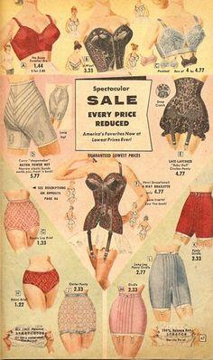 Vintage - black lace lingerie, girdles and bras. Moda Vintage, Vintage Love, Retro Vintage, Wedding Vintage, Vintage Black, Vintage Outfits, Vintage Dresses, Vintage Fashion, Vintage Clothing