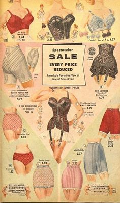 50's undergarments  woah most look painful :-)