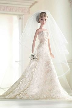 Toys - Great Gifts Barbie Doll - Gold Platinum Label  and Wedding and Beyond