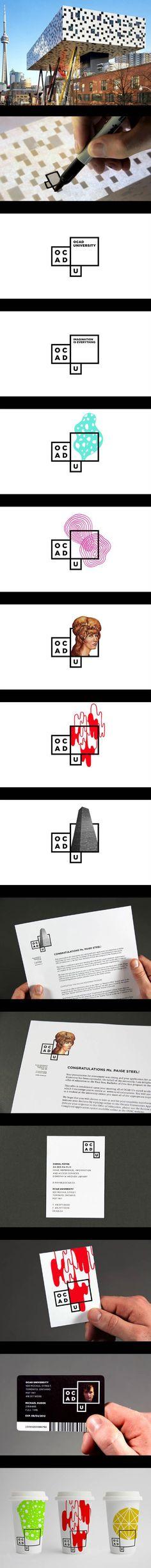 Identity based on facade of building – OCAD University _ Bruce Mau Design