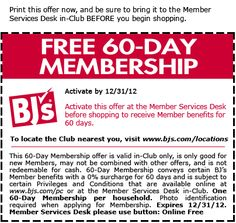 With coupon get a free sixty day trial membership at BJ's. | Bargain Hound Daily Deals