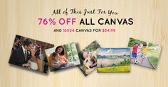 18x24 canvas for $34.99, 76% off other canvas sizes, plus FREE standard shipping! Exclusions apply. #Sale ends 11/15, get started here: http://www.easycanvasprints.com/single-canvas?utm_source=facebook&utm_campaign=SOCBECPSAVE18X24&pcode=6939576756756659416A5A2F73634D374C6D6E6C697865543956385330386442