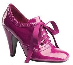 Someday, I will find the right pair of patent high heeled brogues.