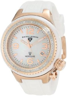 Swiss Legend Women's 11844D-WWRA Neptune White Mother-Of-Pearl Dial Diamond Accented Watch Swiss Legend. $299.99. Save 84%!