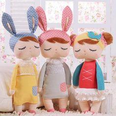 $28.2 - Cool Kawaii Plush Stuffed Animal Cartoon Kids Toys for Girls Children Baby Birthday Christmas Gift Angela Rabbit Girl Metoo Doll/35CM - Buy it Now!